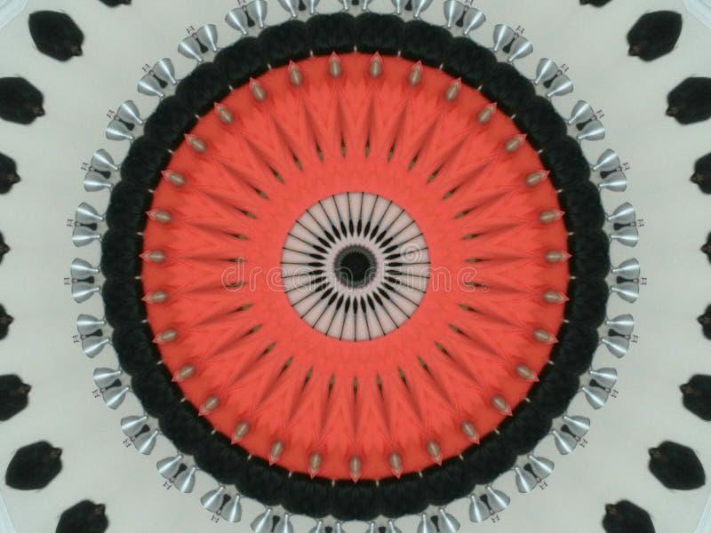 Branco preto vermelho do caleidoscópio imagem de stock royalty free