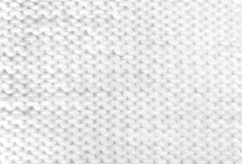 Branco que faz malha a textura de lã fotografia de stock royalty free