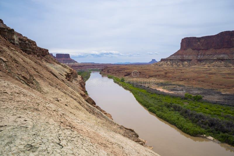 Branco Rim Road Utah da fuga da parte inferior do forte fotos de stock royalty free