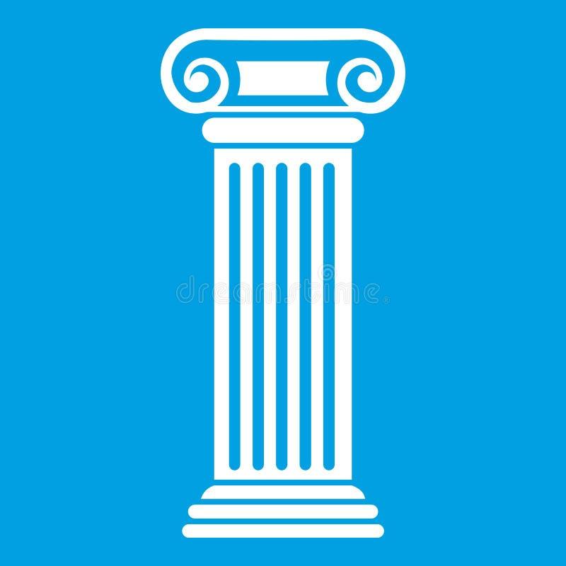 Branco romano do ícone da coluna ilustração do vetor