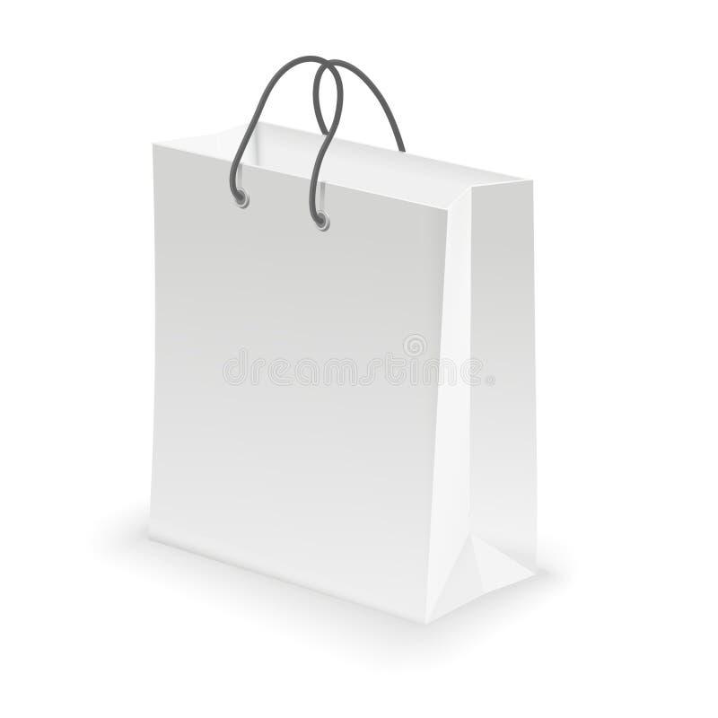 Branco vazio do saco de compras ilustração do vetor