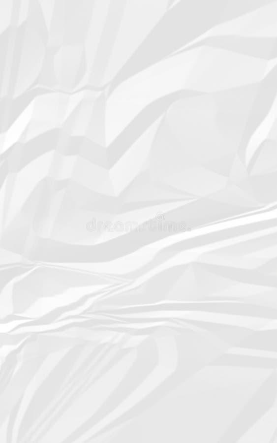 Branco velho papel amarrotado ilustração do vetor