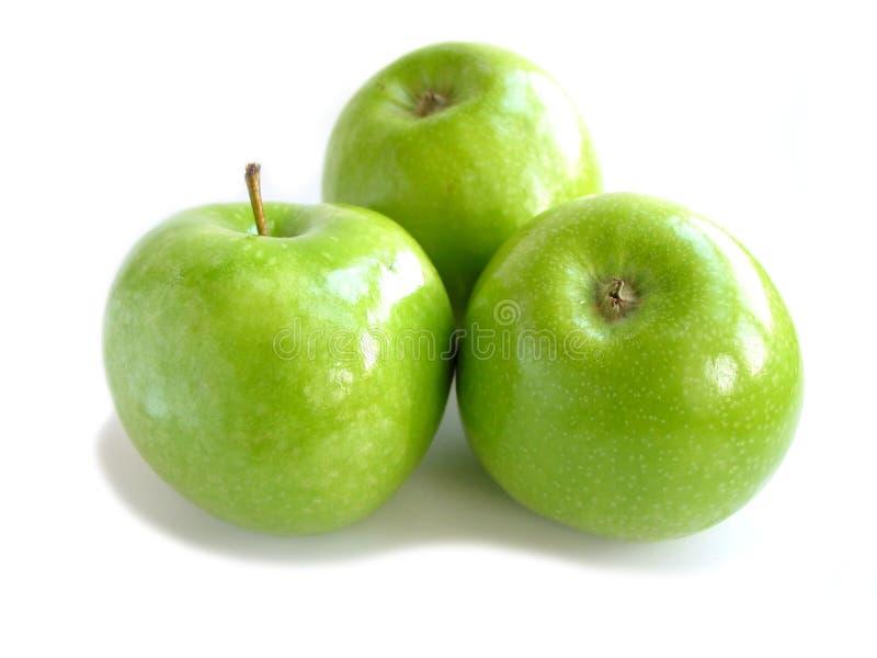 Branco verde da maçã imagem de stock