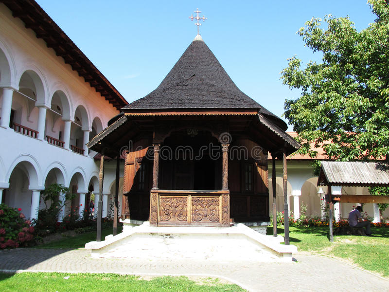 Brancoveanu修道院 免版税图库摄影