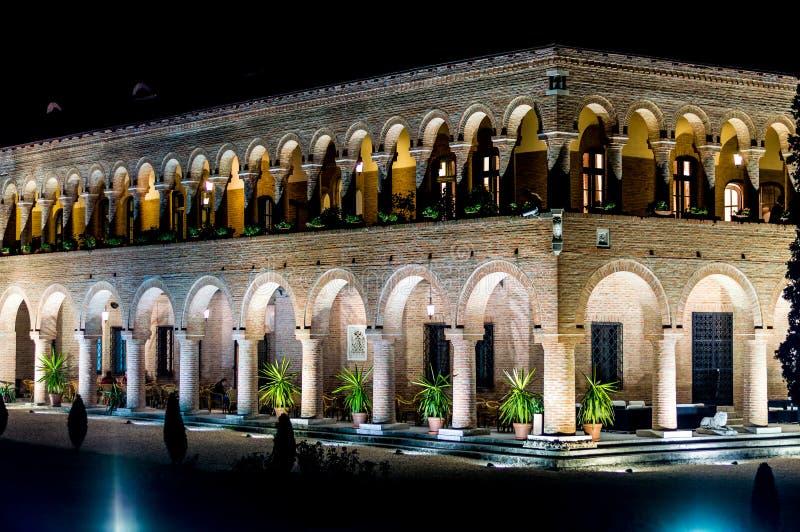 Brancoveanupaleis in Mogosoaia buiten Boekarest, Venetiaanse architecturale elementen royalty-vrije stock foto