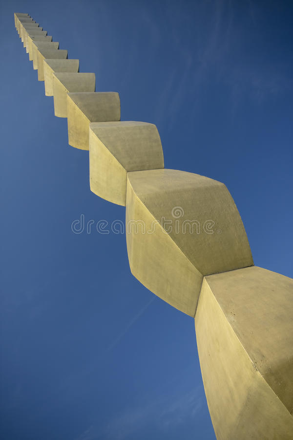 Brancusi. Column of Infinite at Tirgu-Jiu, Romania royalty free stock photo