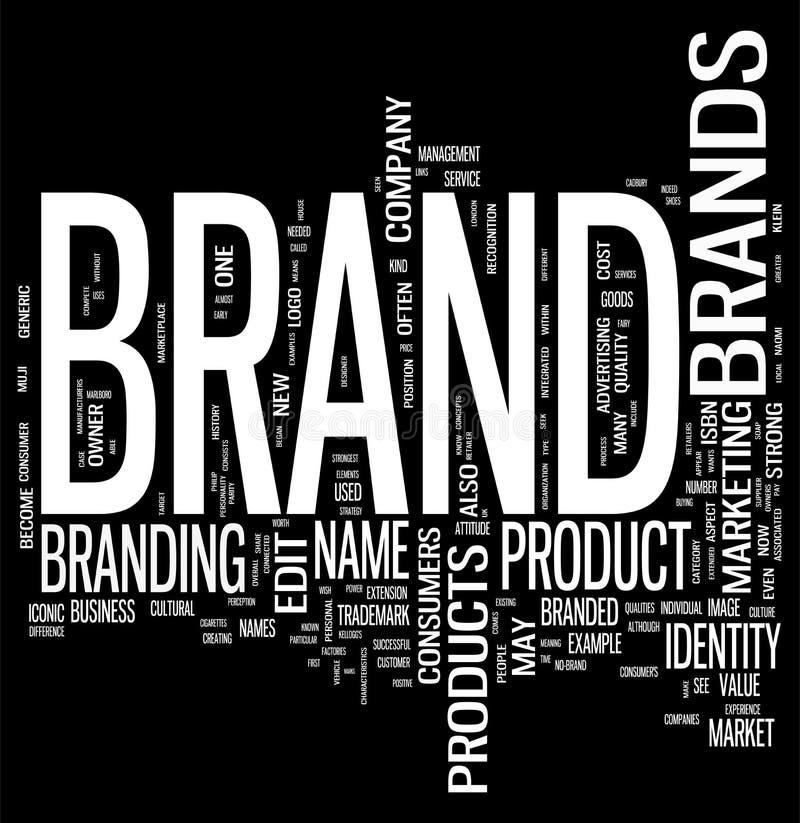 Brand. Word cloud on black background