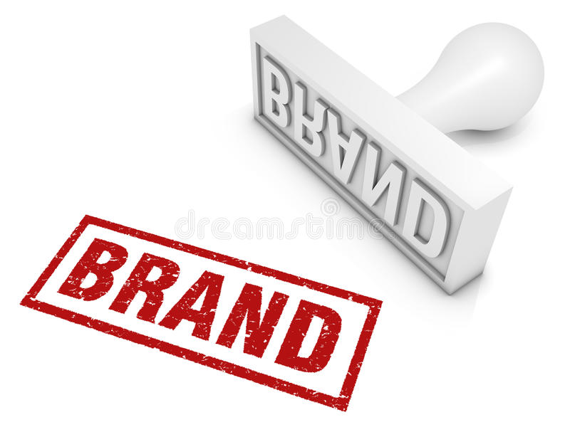 Brand. Rubber stamp. Part of a series of business concepts stock illustration