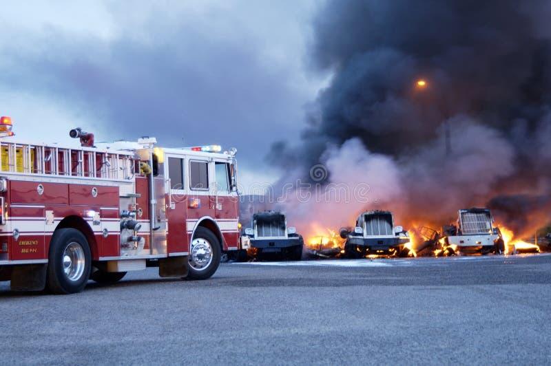 Brand 3 van de vrachtwagen stock foto's