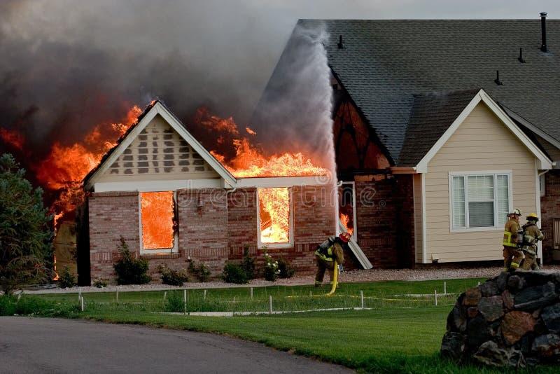 Brand 4 van het huis royalty-vrije stock foto's