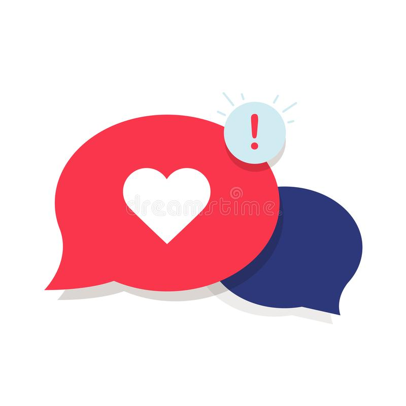 Brand Ambassador Chat Speech Bubble Icon and Influencer Marketing Representative. Love chat or client oriented. Symbol concept. Cloud with heart and awarness vector illustration