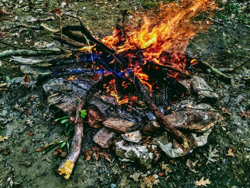Brand binnen een Vlam royalty-vrije stock afbeelding