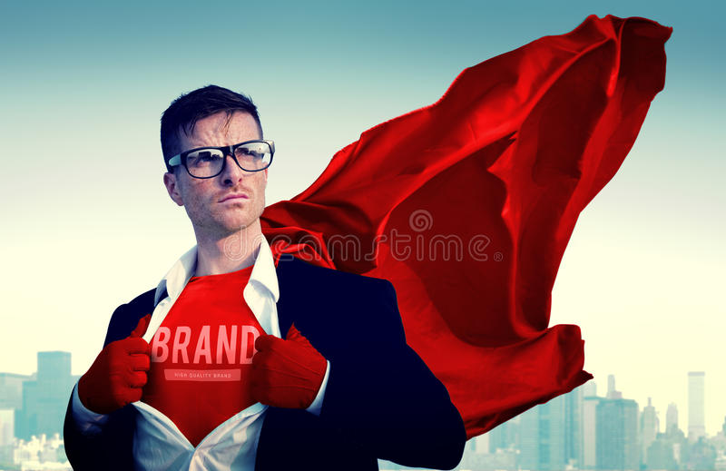 Brand Branding Commercial Marketing Advertisement Business Concept. Brand Commercial Man Business Concept royalty free stock image