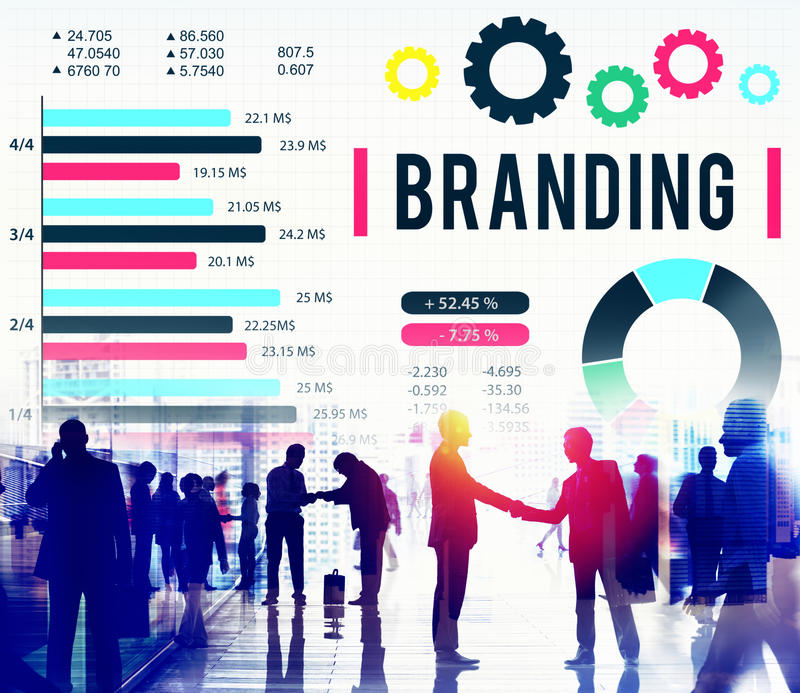 Brand Branding Copyright Advertising Banner Concept royalty free stock photos