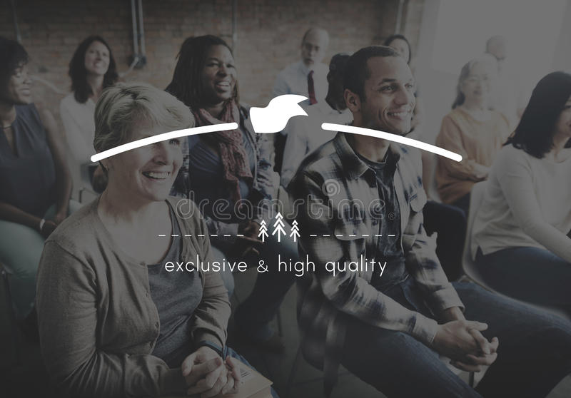 Brand Branding High Quality Exclusive Concept royalty free stock image