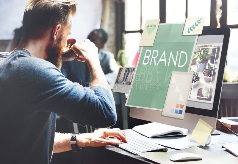Brand Branding Label Marketing Profile Trademark Concept.  stock photo