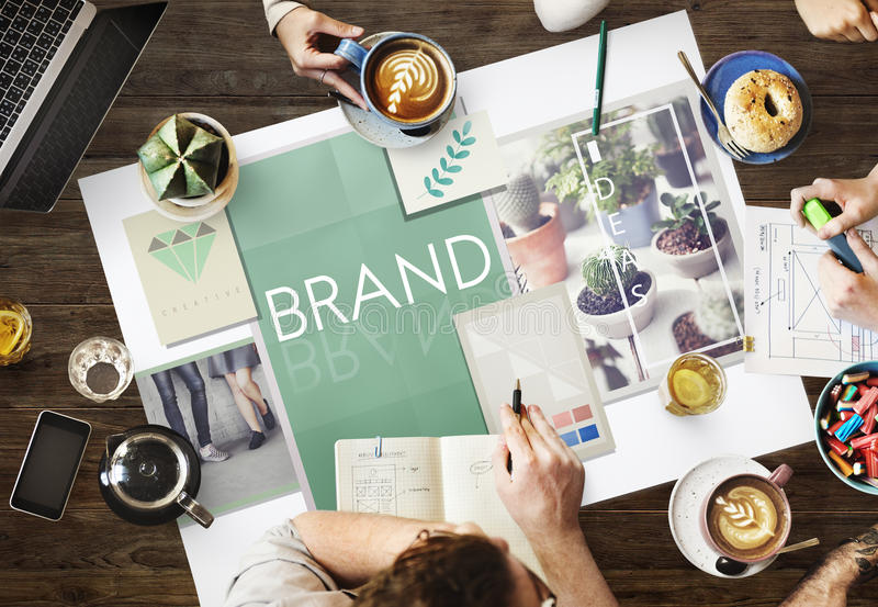 Brand Branding Label Marketing Profile Trademark Concept stock photos