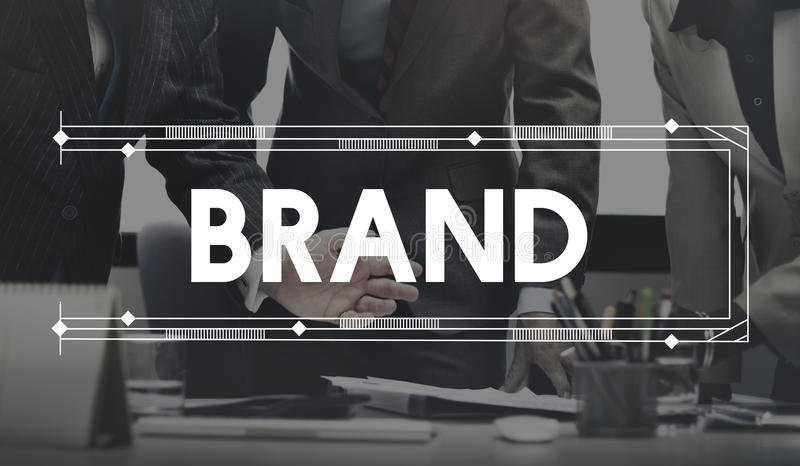 Brand Branding Marketing Commercial Advertising Product Concept.  stock photography