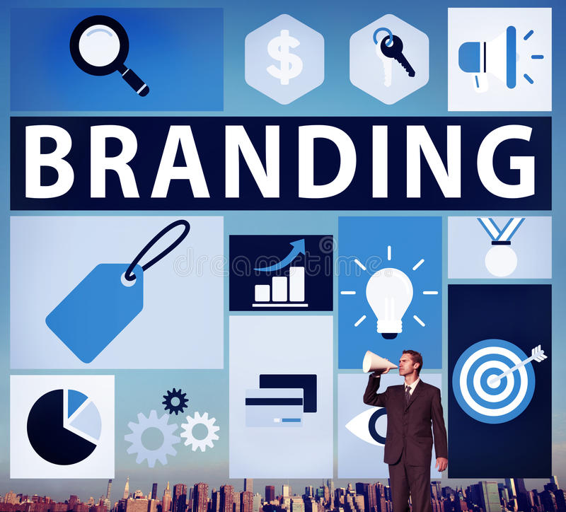 Brand Branding Marketing Commercial Name Concept stock image