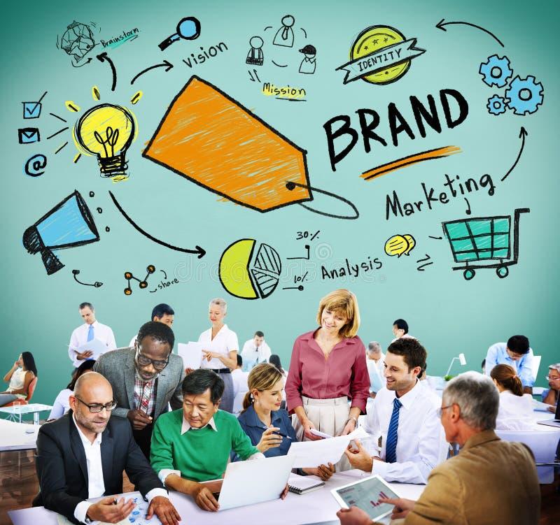 Brand Branding Marketing Commercial Name Concept.  stock image