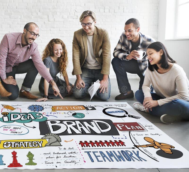 Brand Branding Strategy Marketing Creative Concept.  royalty free stock photos