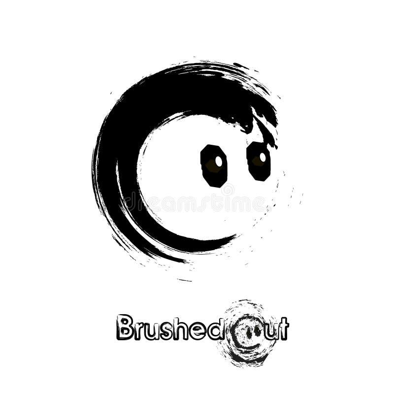 Brand of Brush Style dot stock illustration