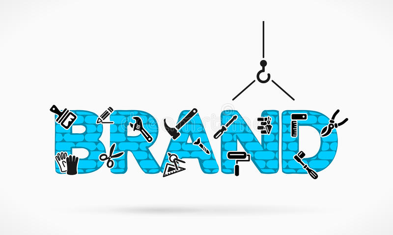Brand building stock illustration