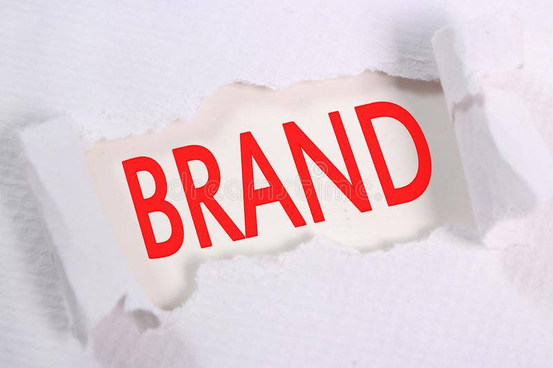 Brand, Motivational Words Quotes Concept stock photo