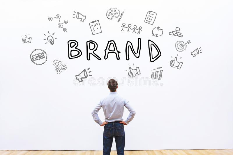 Brand concept. Unique name and style for company royalty free stock images