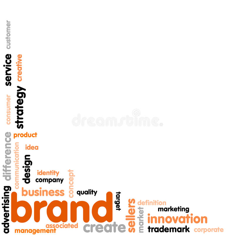 Brand Concept word cloud royalty free illustration