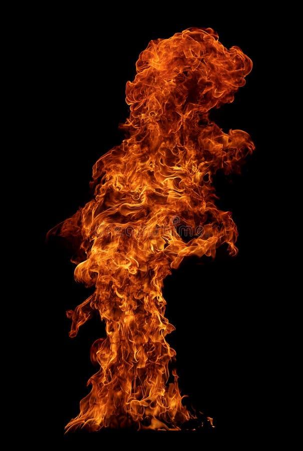 Brand die op zwarte achtergrond wordt geïsoleerdv stock fotografie