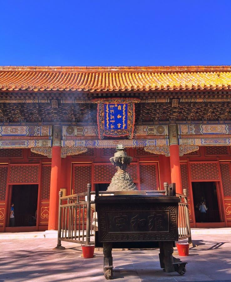 Brand een joss stok, Peking stock foto's