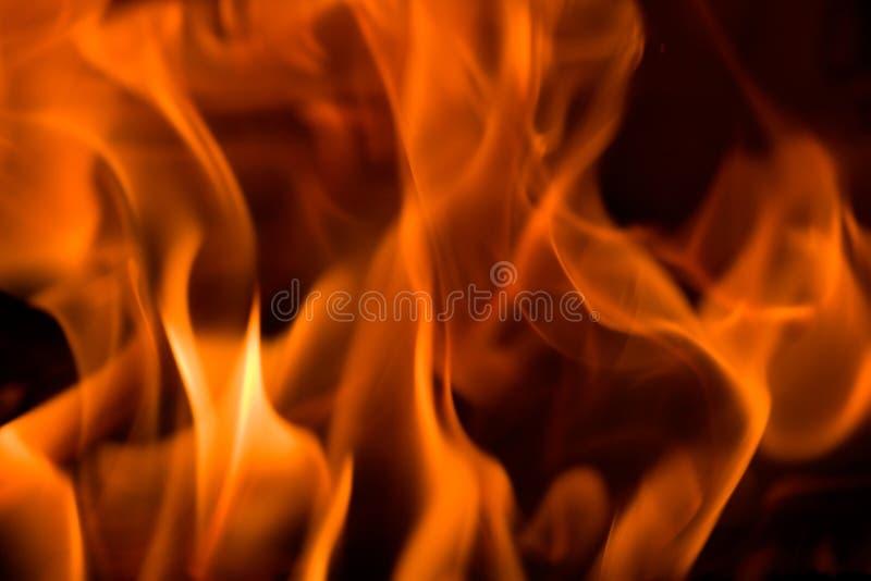 Brand in een open haard stock foto's