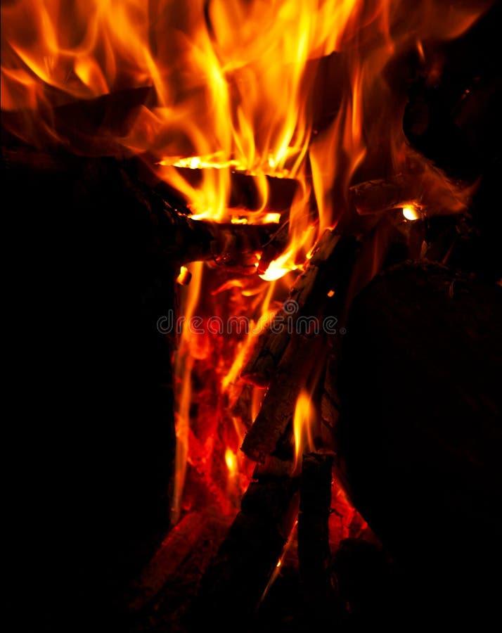 Brand en vlammen stock foto