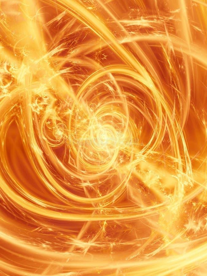 Brand en Vlammen 2 van de vuurbol vector illustratie