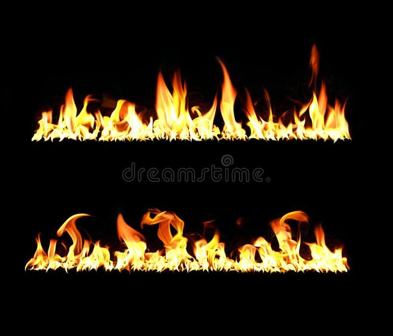 Brand en vlammen stock fotografie