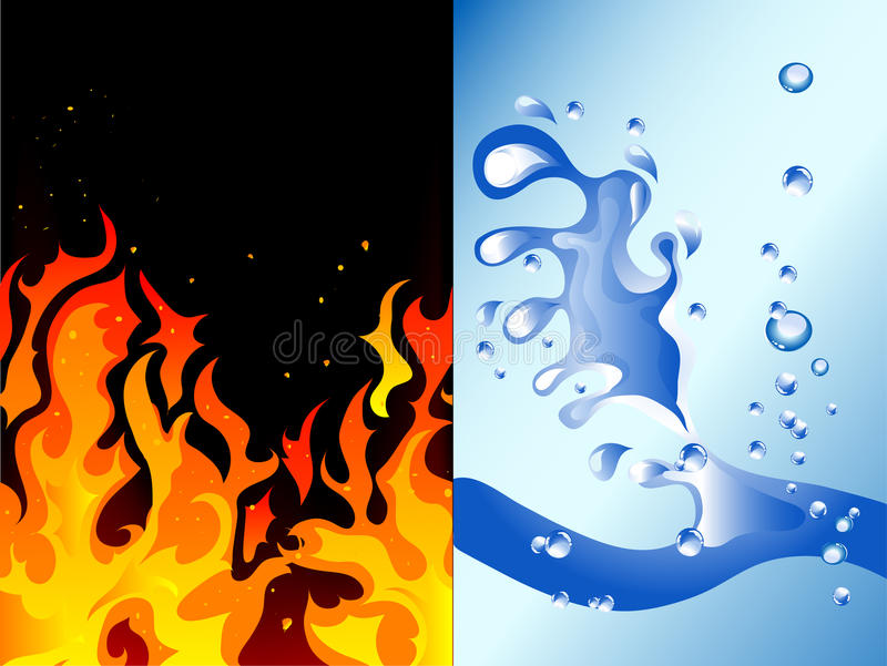 Brand en water royalty-vrije illustratie