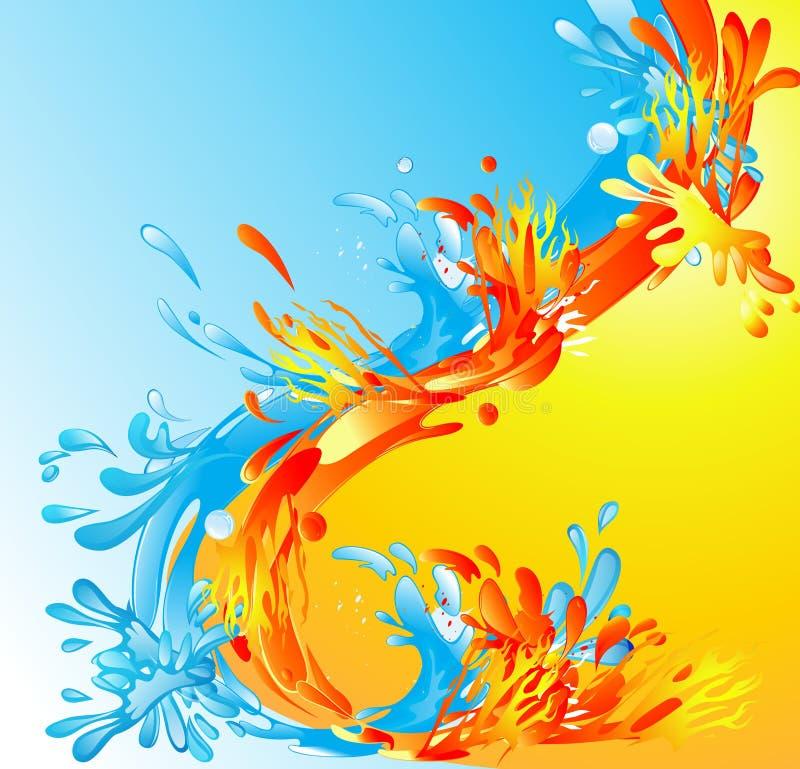 Brand en water vector illustratie