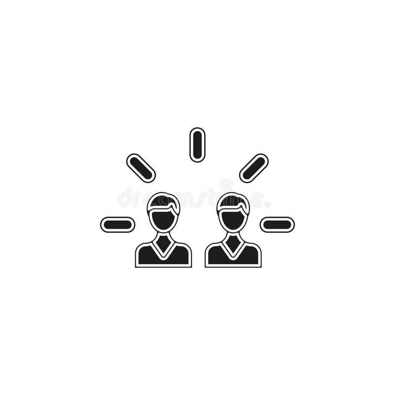 Brand engagement icon. Simple element royalty free illustration