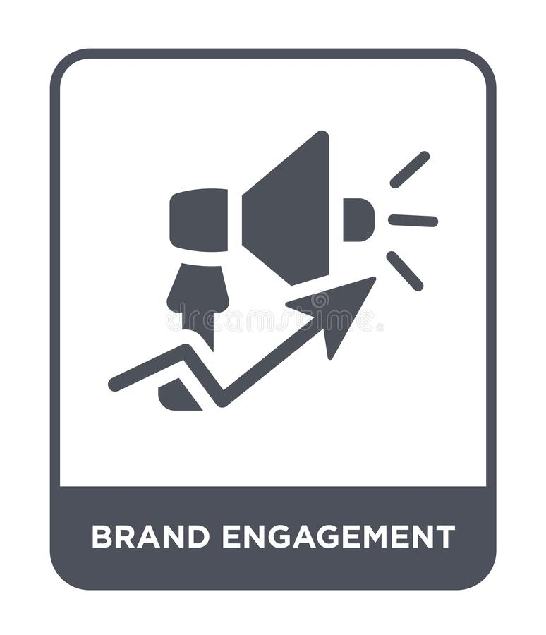 Brand engagement icon in trendy design style. brand engagement icon isolated on white background. brand engagement vector icon. Simple and modern flat symbol royalty free illustration