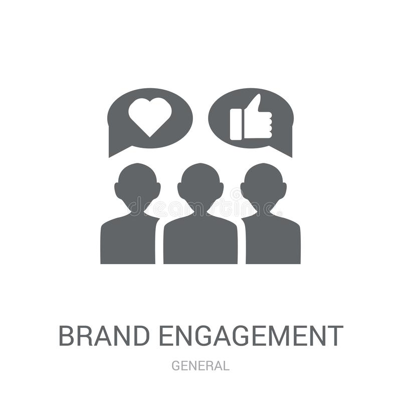 brand engagement icon. Trendy brand engagement logo concept on w vector illustration