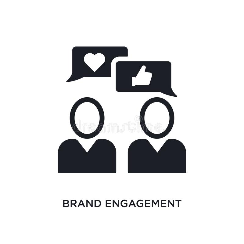brand engagement isolated icon. simple element illustration from general-1 concept icons. brand engagement editable logo sign vector illustration