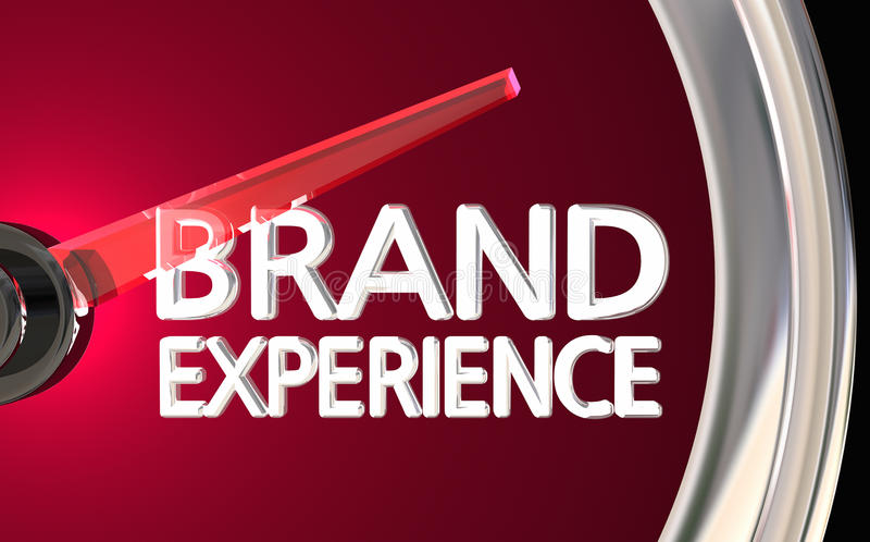 Brand Experience Speedometer Customer Satisfaction 3d Illustration royalty free illustration