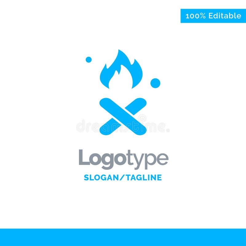 Brand, Feuer, Abfall, Verschmutzung, Rauch blauer fester Logo Template Platz f?r Tagline stock abbildung