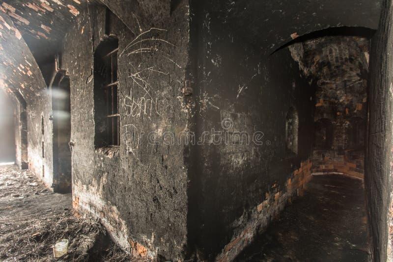 brand in gevangenis royalty-vrije stock foto