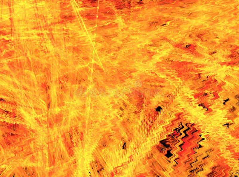 Brand Haze Ripple Flames vector illustratie