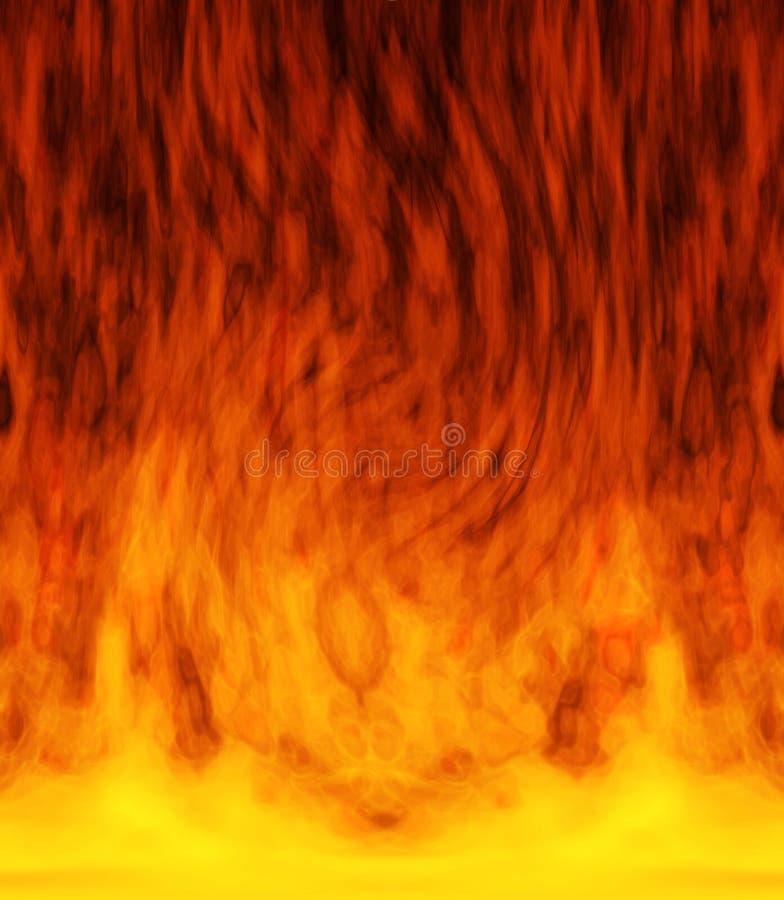 Brand in het centrum vector illustratie