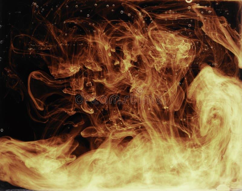 Brand in het water royalty-vrije stock foto