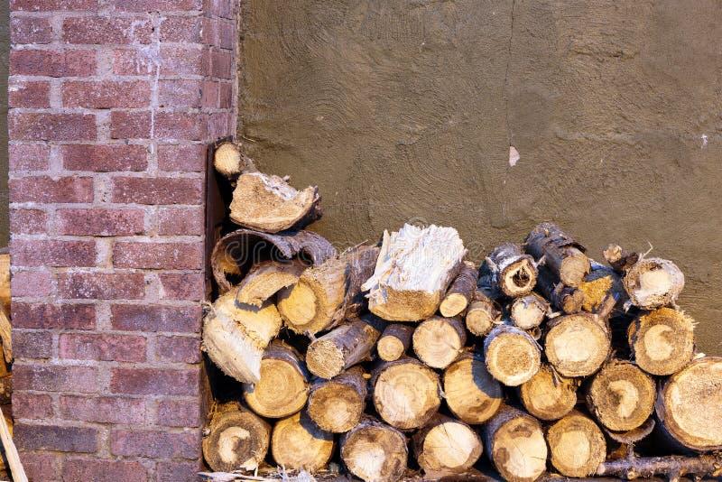 Brand houten brokken royalty-vrije stock fotografie