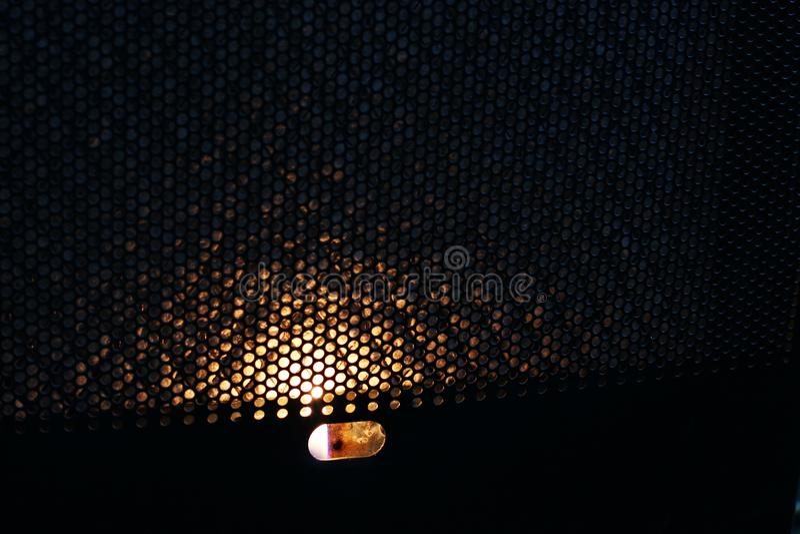 Brand i konvektorn värme royaltyfri foto